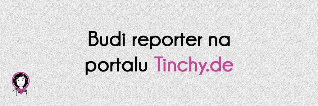 Budi reporter na portalu Tinchy.de