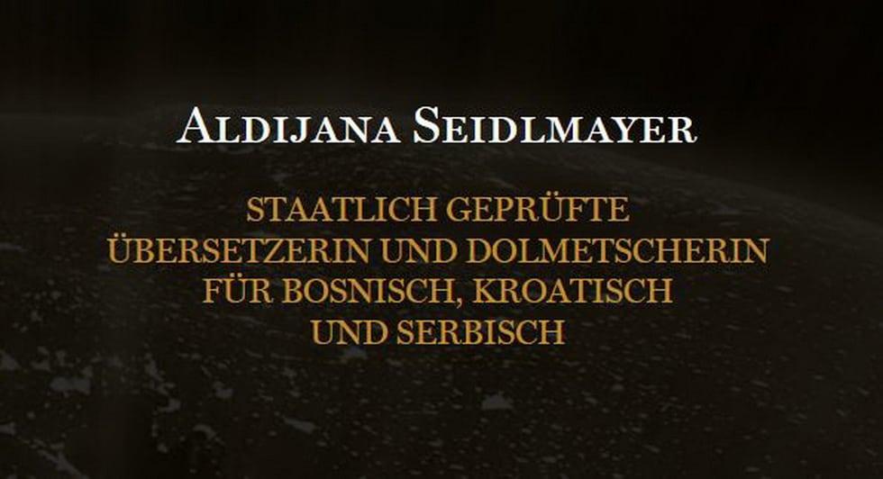 Aldijana Seidlmayer – Übersetzerin & Dolmetscherin