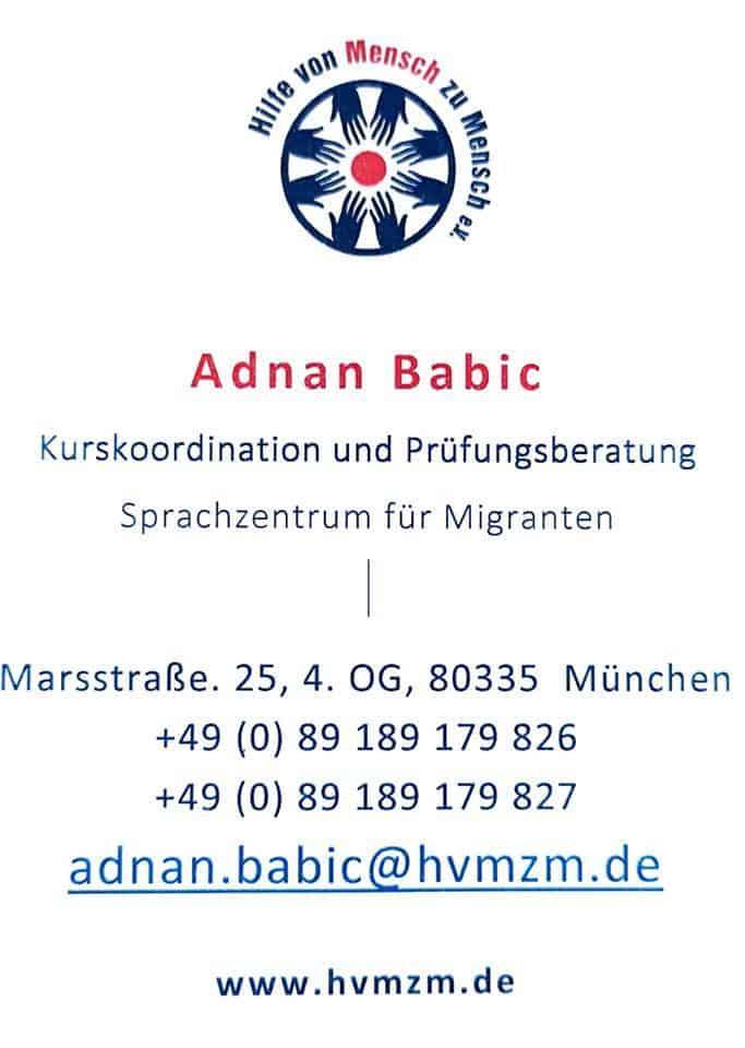 Tečajevi njemačkog – Hilfe von Mensch zu Mensch