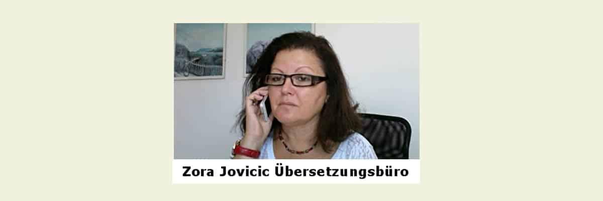 Übersetzer & Dolmetscher – Zora Jovicic